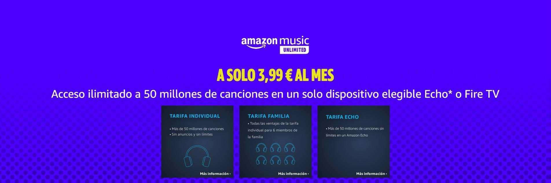 Precio de Amazon Music Unlimited
